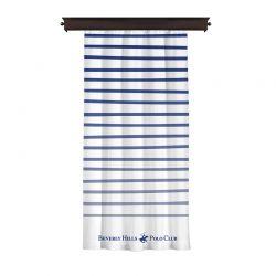 Κουρτίνα με Τρουκς 140 x 260 cm Χρώματος Λευκό Beverly Hills Polo Club 176BHP8809