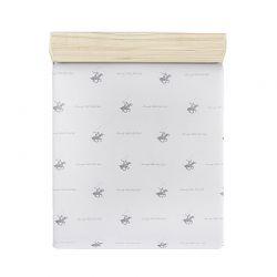 Μονό Σεντόνι 180 x 240 cm Χρώματος Λευκό - Γκρι Beverly Hills Polo Club 176BHP1101