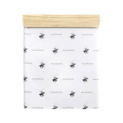 Μονό Σεντόνι 180 x 240 cm Χρώματος Λευκό - Λιλά Beverly Hills Polo Club 176BHP1110