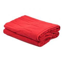 Σετ με 2 Χαλάκια Μπάνιου 50 x 75 cm Χρώματος Κόκκινο Beverly Hills Polo Club 355BHP1012