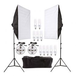 Σετ Φωτισμού για Στούντιο Φωτογράφισης με 2 Τρίποδα και 10 Λαμπτήρες MWS4499