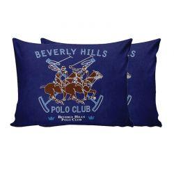 Σετ Μαξιλαροθήκες 50 x 70 cm 2 τμχ Χρώματος Μπλε Beverly Hills Polo Club 176BHP0108