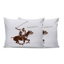 Σετ Μαξιλαροθήκες 50 x 70 cm 2 τμχ Χρώματος Λευκό Beverly Hills Polo Club 176BHP0109