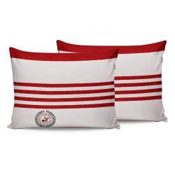 Σετ Μαξιλαροθήκες 50 x 70 cm 2 τμχ Χρώματος Λευκό Beverly Hills Polo Club 176BHP0121