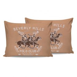 Σετ Μαξιλαροθήκες 50 x 70 cm 2 τμχ Χρώματος Σομόν Beverly Hills Polo Club 176BHP0124