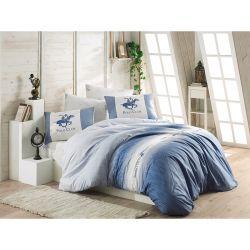 Σετ Μονή Παπλωματοθήκη με Μαξιλαροθήκη και Σεντόνι 160 x 220 cm Beverly Hills Polo Club 030 Χρώματος Μπλε