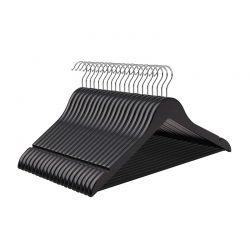 Σετ Ξύλινες Κρεμάστρες Ρούχων 50 τμχ Χρώματος Μαύρο Songmics CRW02B-50