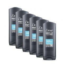 Αφρόλουτρο Dove Men Care Clean Comfort Body & Face Wash 400 ml 6 τμχ DOVE-CareCom250-6PCS