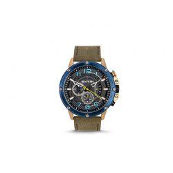 Ανδρικό Ρολόι με Χακί Σουέτ Δερμάτινο Λουράκι Extri X6020D 8719325422627