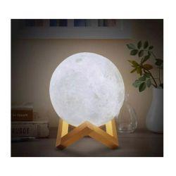 Επαναφορτιζόμενο Φωτιστικό Αφής Φεγγάρι 3D με LED Εναλλασσόμενο Φωτισμό και Τηλεχειριστήριο GEM BN2226