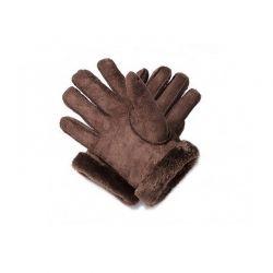 Γυναικεία Δερμάτινα Γάντια Μουτόν Χρώματος Καφέ SPM 8715342020471