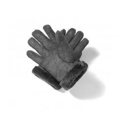 Γυναικεία Δερμάτινα Γάντια Μουτόν Χρώματος Μαύρο Small SPM 8715342020396