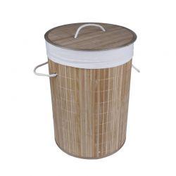 Καλάθι Απλύτων από Μπαμπού Χρώματος Καφέ Ανοιχτό GEM BN5667