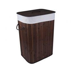 Καλάθι Απλύτων από Μπαμπού Χρώματος Καφέ Σκούρο GEM BN5670