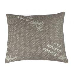 Μαξιλάρι από Μπαμπού με Ενεργό Άνθρακα και Memory Foam 60 x 50 cm Herzberg HG-6050BC