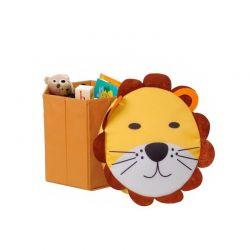 Πτυσσόμενο Παιδικό Κουτί Αποθήκευσης Παιχνιδιών Λιοντάρι MWS2342