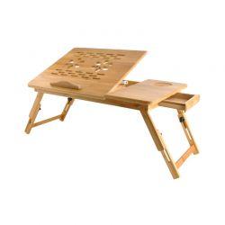 Ξύλινο Βοηθητικό Πτυσσόμενο Τραπέζι Πολλαπλών Χρήσεων με Βάση για Laptop SPM 7974IT