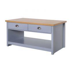 Ξύλινο Τραπέζι Σαλονιού με 2 Συρτάρια 99 x 55 x 50.5 cm HOMCOM 833-716