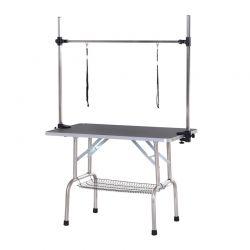 Ρυθμιζόμενο Τραπέζι Καλλωπισμού για Κατοικίδια 107 x 60 x 170 cm PawHut D01-027BK