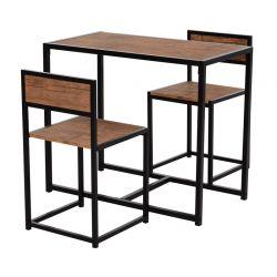 Σετ Μεταλλικό Ορθογώνιο Τραπέζι - Bar 90 x 47 x76 cm με 2 Σκαμπό HOMCOM 835-136