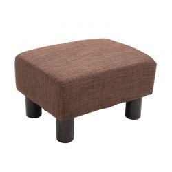 Ξύλινο Σκαμπό - Υποπόδιο με Υφασμάτινο Κάθισμα 40 x 30 x 24 cm HOMCOM 833-666V70