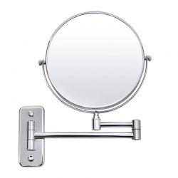 Επιτοίχιος Περιστρεφόμενος Καθρέπτης Μακιγιάζ 5x Διπλής Όψεως Songmics BBM513