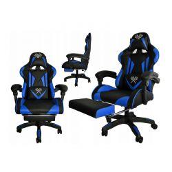 Καρέκλα Gaming με Υποπόδιο Χρώματος Μπλε Malatec 8978IT