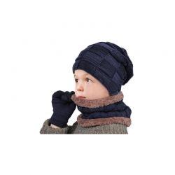 Παιδικό Σετ Σκούφος, Κασκόλ και Γάντια για Οθόνη Αφής Χρώματος Navy SPM DYN-Kid3pcGlov-NAVY