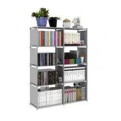 Πλαστική Βιβλιοθήκη με 8 Ράφια 82 x 31 x 125 cm SPM F62-2x4
