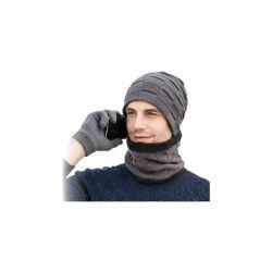 Σετ Σκούφος, Κασκόλ και Γάντια για Οθόνη Αφής Χρώματος Γκρι SPM DYN-Men3pcGlov-GREY