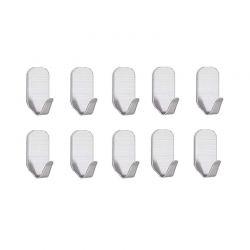Σετ Αυτοκόλλητες Κρεμάστρες από Ανοξείδωτο Ατσάλι 10 τμχ SPM DYN-10AdhesHooks