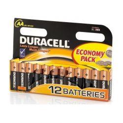 Σετ Αλκαλικές Μπαταρίες ΑΑ R06 12 τμχ Duracell 809-0039420333