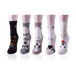 Σετ Γυναικείες Κάλτσες με Σχέδιο Σκύλος 5 Ζευγάρια 35-39 SPM DYN-SocksDog
