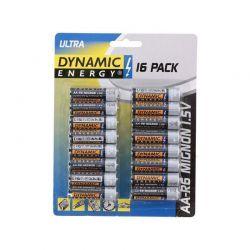 Σετ Μπαταρίες ΑA R6 Mignon Ultra 1.5 V 16 τμχ Dynamic Energy 809-1286600000