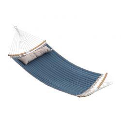 Διπλή Καπιτονέ Αιώρα 200 x 140 cm Χρώματος Μπλε Songmics GDC34QW