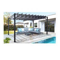 Μεταλλική Πέργκολα με Ρυθμιζόμενη Οροφή 3 x 3 x 2.20 m Inkazen 40030095+40030096