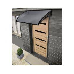 Πλαστικό Κιόσκι - Τέντα Πόρτας Εισόδου 80 x 100 cm Χρώματος Μαύρο Inkazen 40070228