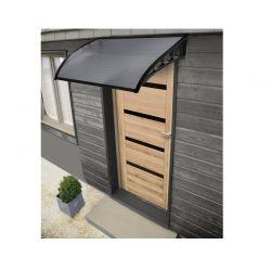 Πλαστικό Κιόσκι - Τέντα Πόρτας Εισόδου 80 x 150 cm Χρώματος Μαύρο Inkazen 40070232