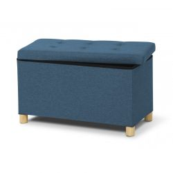 Σκαμπό με Αποθηκευτικό Χώρο 76 x 38 x 43 cm Χρώματος Πετρόλ Idomya 30010086