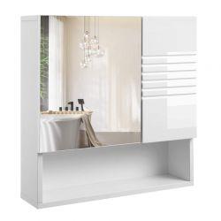 Καθρέπτης Μπάνιου με Ντουλάπι 54 x 15 x 55 cm VASAGLE BBK21WT