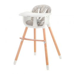 Παιδικό Κάθισμα Φαγητού 2 σε 1 Χρώματος Γκρι Baby Tiger Tini