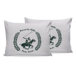 Σετ Μαξιλαροθήκες 50 x 70 cm 2 τμχ Χρώματος Πράσινο Beverly Hills Polo Club 176BHP0132