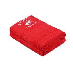 Σετ με 2 Πετσέτες Προσώπου 50 x 90 cm Χρώματος Κόκκινο Beverly Hills Polo Club 355BHP2330