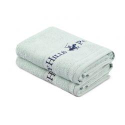 Σετ με 2 Πετσέτες Προσώπου 50 x 90 cm Χρώματος Mint Beverly Hills Polo Club 355BHP2341