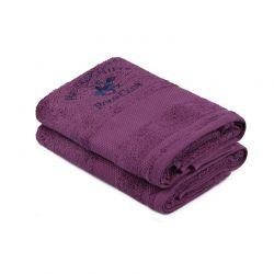 Σετ με 2 Πετσέτες Προσώπου 50 x 90 cm Χρώματος Μωβ Beverly Hills Polo Club 355BHP2335