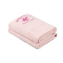 Σετ με 2 Πετσέτες Προσώπου 50 x 90 cm Χρώματος Ροζ Beverly Hills Polo Club 355BHP2339