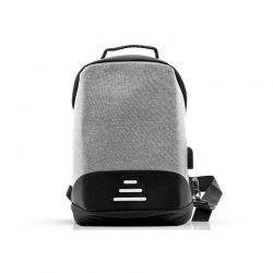 Αντικλεπτικό Σακίδιο Πλάτης με Θύρα Φόρτισης USB και Καλώδιο 1 m Χρώματος Γκρι SPM R175817
