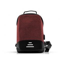 Αντικλεπτικό Σακίδιο Πλάτης με Θύρα Φόρτισης USB και Καλώδιο 1 m Χρώματος Κόκκινο SPM R175819