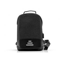 Αντικλεπτικό Σακίδιο Πλάτης με Θύρα Φόρτισης USB και Καλώδιο 1 m Χρώματος Μαύρο SPM R175816