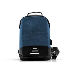 Αντικλεπτικό Σακίδιο Πλάτης με Θύρα Φόρτισης USB και Καλώδιο 1 m Χρώματος Μπλε SPM R175818
